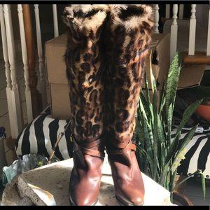 Size 7B Ralph Lauren Leopard cheetah print boots